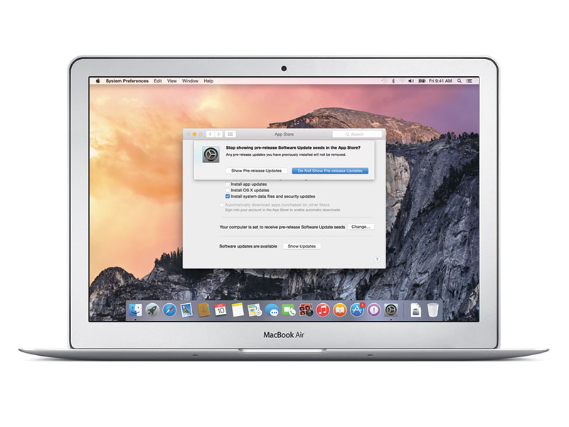 วิธียกเลิกเป็นผู้ร่วมทดสอบ OS X Yosemite รุ่นเบต้า