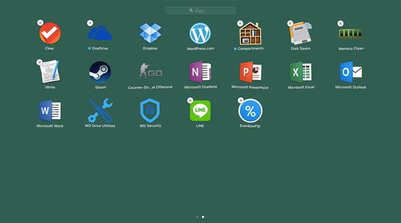 วิธีลบแอพ Mac ในหน้า Launchpad